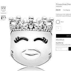 New Pandora Princess Emoji Charm